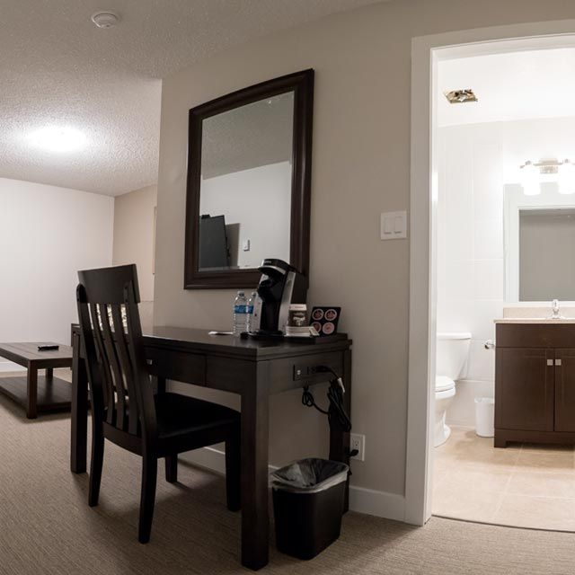 hotel suite with work station